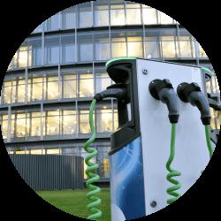 Solução carregadores para carros elétricos empresariais